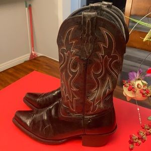 ARIAT LEATHER BLACK BOOTS